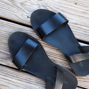 MADEWELL The Boardwalk Ankle Strap Sandal - Black